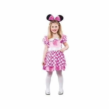 Carnaval  Meisjes roze muis kostuum
