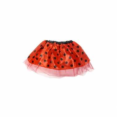 Carnaval  Meisjes verkleed rokje rood kostuum