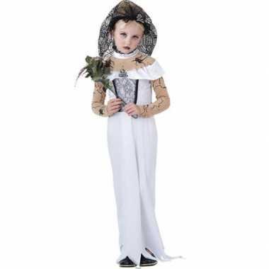 Carnaval  Meisjes zombie bruidsjurk kostuum