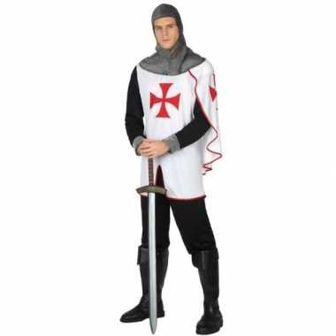 Carnaval middeleeuwse kruistocht ridder verkleed kostuum heren