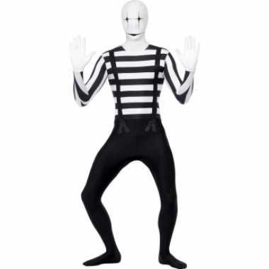 Carnaval  Mime artiest second skin kostuum