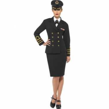 Carnaval  Navy officiers kostuum dames