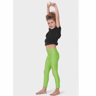 Carnaval  Neon groene kinder leggings kostuum