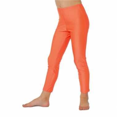 Carnaval  Neon oranje kinder leggings kostuum