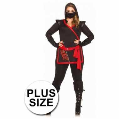 Carnaval  Ninja kostuum dames grote maten