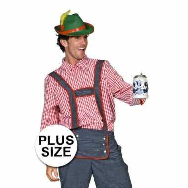 Carnaval  Oktoberfest Grote maten Tiroler kostuum heren