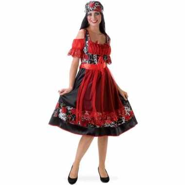 Carnaval  Oktoberfest kostuum jurkje rood zwart