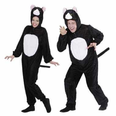 Carnaval onesie dierenkostuumken kat