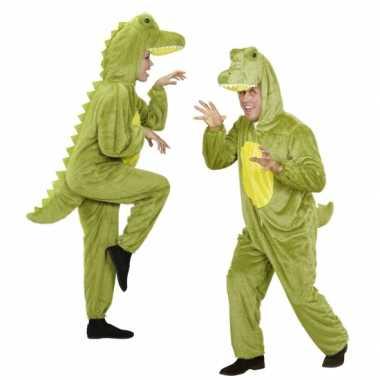 Carnaval onesie dierenkostuumken krokodil