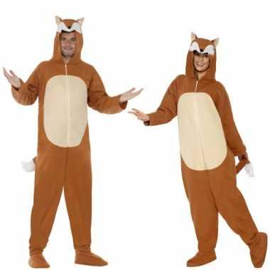 Carnaval onesie vos volwassenen kostuum