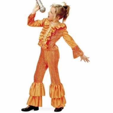Carnaval  Oranje glitter kostuum meisjes