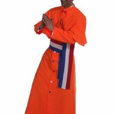 Carnaval  Oranje kardinaal kostuum heren