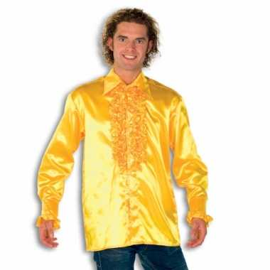 Carnaval  Overhemd geel rouches heren kostuum