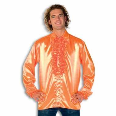 Carnaval  Overhemd oranje rouches heren kostuum