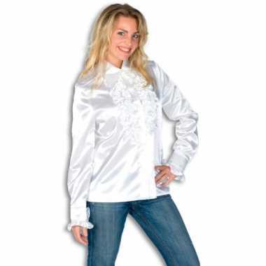 Carnaval  Overhemd rouches dames kostuum