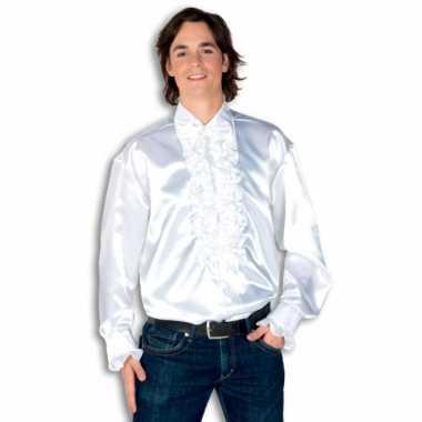 Carnaval  Overhemd wit rouches heren kostuum