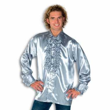 Carnaval  Overhemd zilver rouches heren kostuum