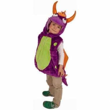 Carnaval  Paarse drakenkostuum kinderen