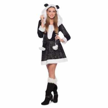 Carnaval panda dierenkostuum kostuum jurkje dames