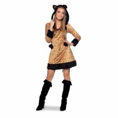 Carnaval panter dierenkostuum kostuum jurkje dames