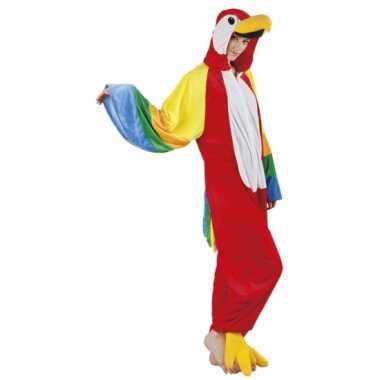 Carnaval papegaai dierenkostuum dames