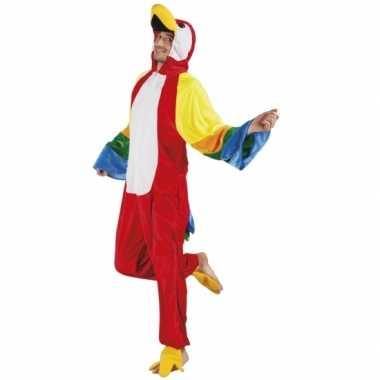 Carnaval papegaai dierenkostuum heren