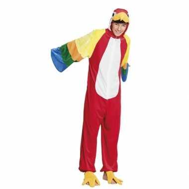 Carnaval papegaai dierenkostuum kinderen