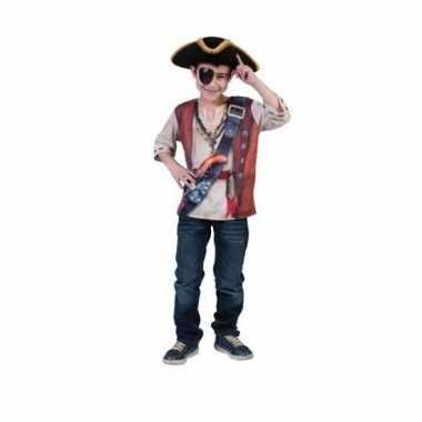 Carnaval  Piraten t-kostuum kinderen