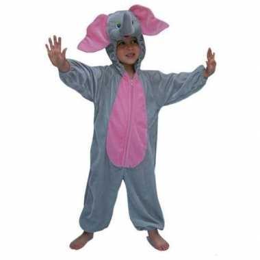 Carnaval  Pluche dieren kostuum olifant