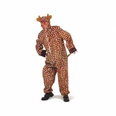 Carnaval pluche giraffe kostuum
