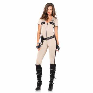 Carnaval politie catsuit accessoires kostuum