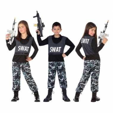 Carnaval politie swat verkleed kostuum/kostuum kinderen