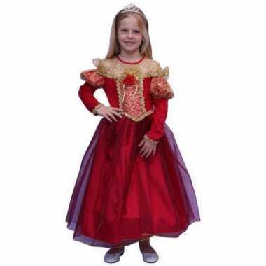 Carnaval  Prinsessen kostuum meisjes rood