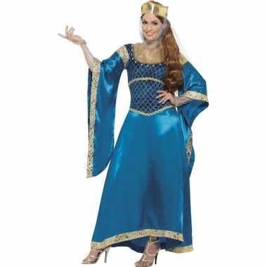 Carnaval  Prinsessen kostuum jurk blauw