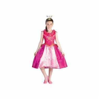 Carnaval  Prinsessia verkleed kostuum roze