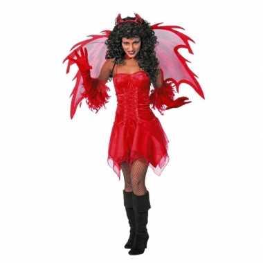 Carnaval  Rode dames feest kostuum jurk