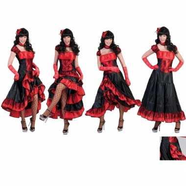 Carnaval  Rode moulin rouge kostuum jurk