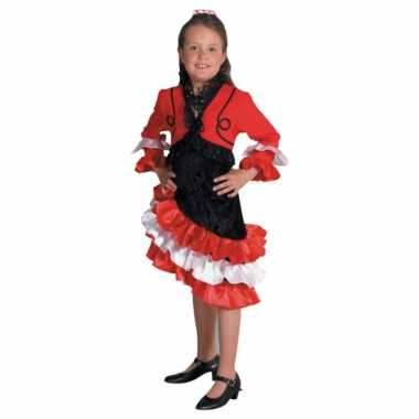 Carnaval  Rood flamengo kostuum jurkje meiden