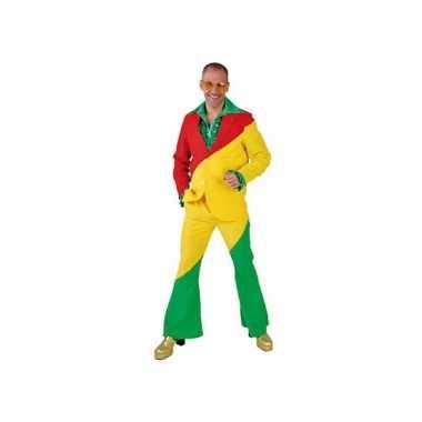 Carnaval  Rood/geel/groene kostuum volwassenen