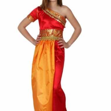 Carnaval  Rood gele oosterse kostuum jurk