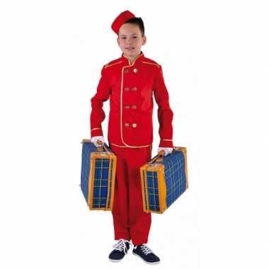 Carnaval  Rood hotelbediende kostuum kinderen