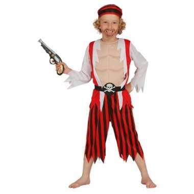 Carnaval  Rood piraten kostuum kinderen
