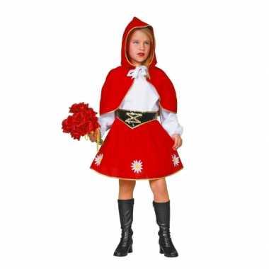 Carnaval  Roodkapje kostuum kinderen