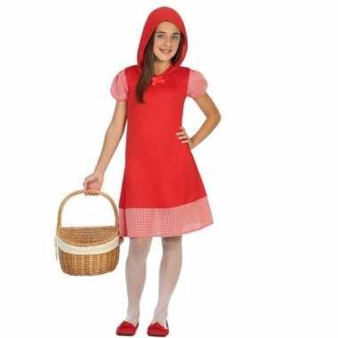 Carnaval roodkapje verkleedjurkje meisjes kostuum