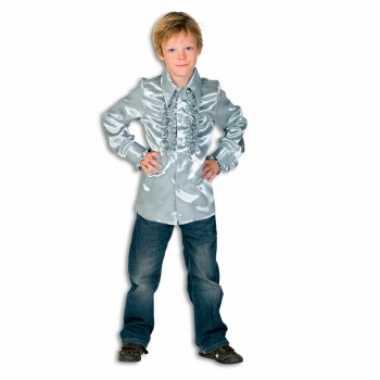 Carnaval  Rouche kostuum jongens zilver