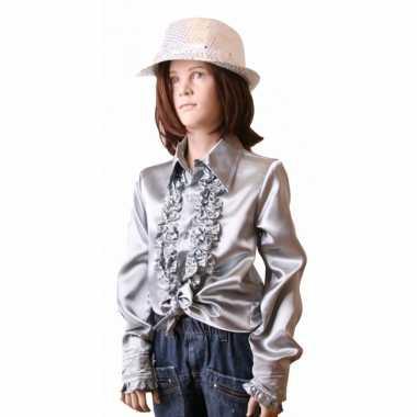Carnaval  Rouche kostuum meisjes zilver