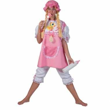 Carnaval roze babykostuum volwassenen