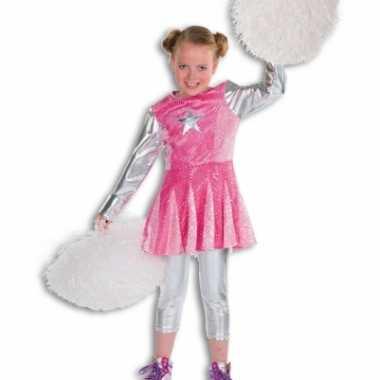 Carnaval  Roze cheerleader kostuum jurkje