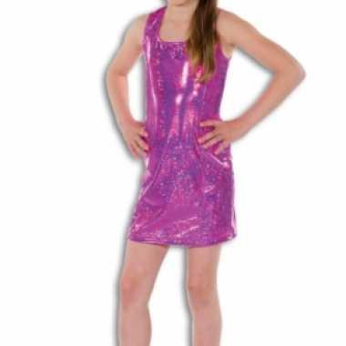 Carnaval  Roze glamour kostuum jurk meisjes