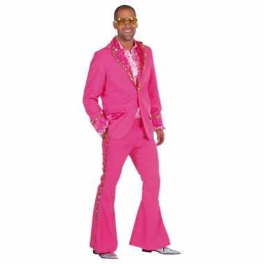 Carnaval  Roze glitter kostuum heren